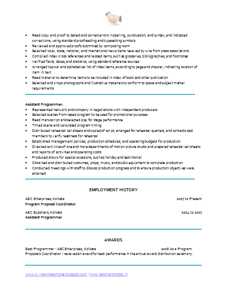 Download Resume Format Here!!!  Program Coordinator Resume