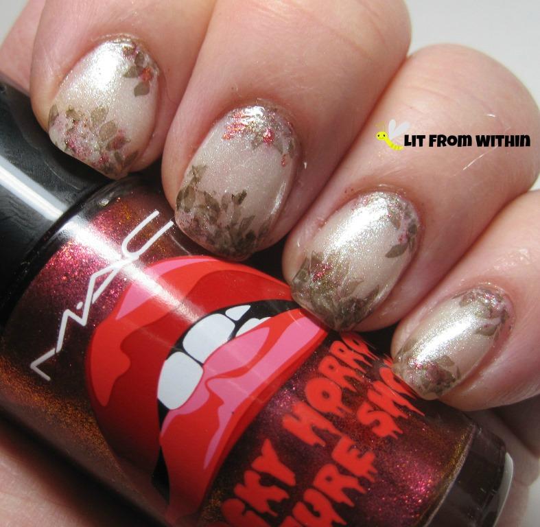 MAC Bad Fairy, a pink/red/gold multichrome glitter