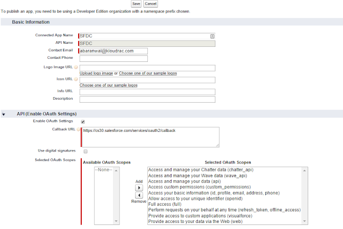 Salesforce to Salesforce Integration Using REST API and OAuth