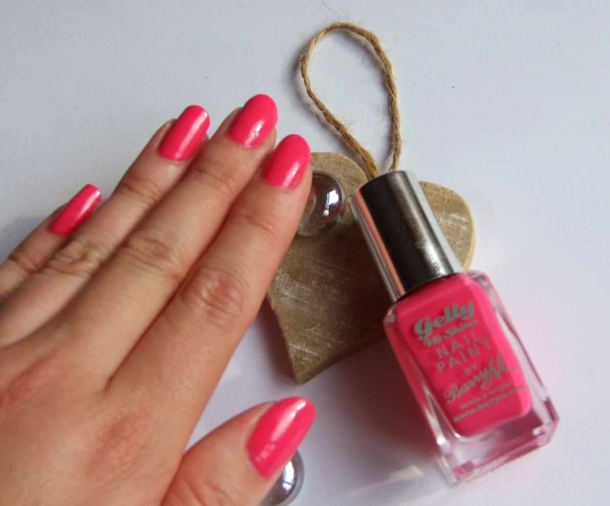 Barry M Hi Shine Gelly Pink Punch Nail Varnish