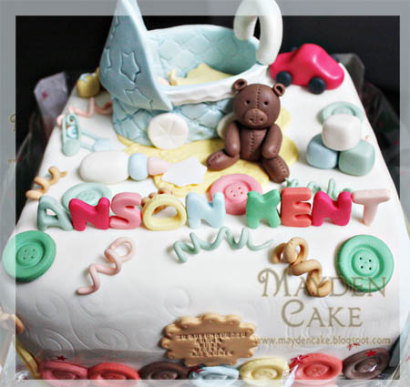 Baby Kents One Month Old Cake