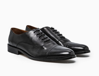 zapatos oxford de piel negros He by Mango