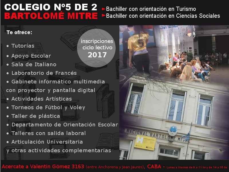"""Colegio 5 D.E. 2 """"Bartolomé Mitre"""""""
