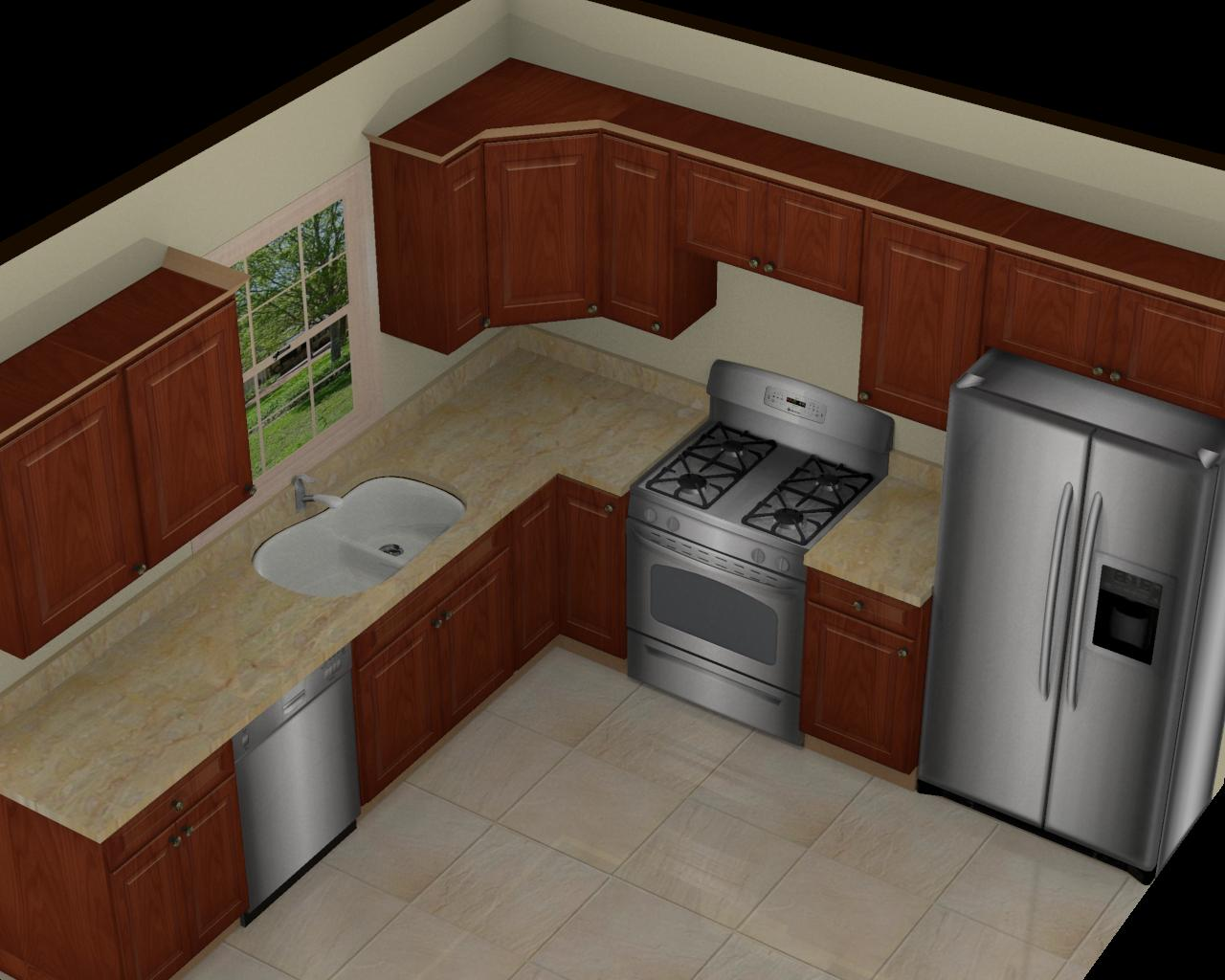 Foundation dezin decor 3d kitchen model design for Kitchen design 10 x 10