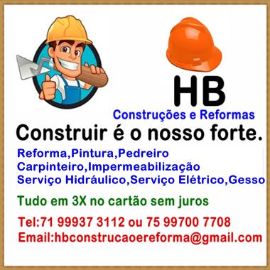HB CONSTRUÇÕES E REFORMAS