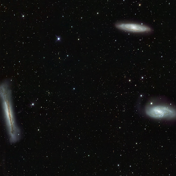 The Leo Triplet brilliantly portrayed by ESO's new VST
