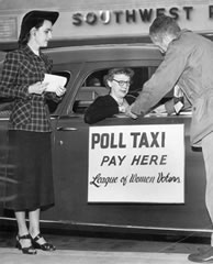 Poll Taxi in 1950s