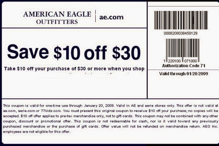 American eagle coupon code december 2018