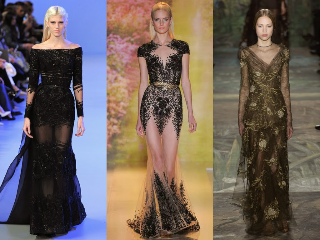 elie saab, zuhair murad and valentino spring 2014 dark princess looks