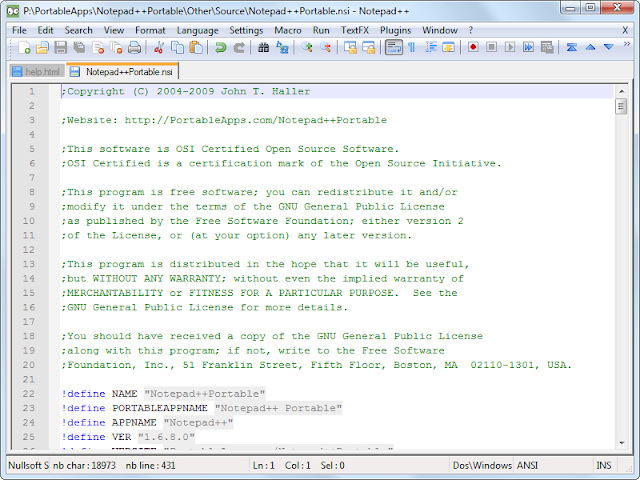Notepad++ 6.2.3
