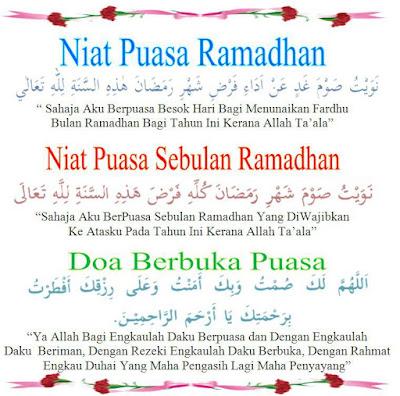 Niat Puasa Sebulan Ramadhan & Doa Berbuka Puasa