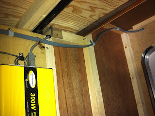 Edward plumer solar panels on jayco travel trailer for Exterior wall cable pass through