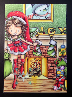 Kit and Clowder Create and Learn November Class Tiddly Inks Christmas Scene
