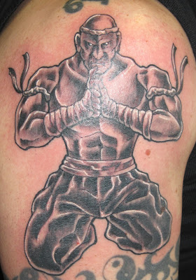 Meditating Thai Fighter Tattoo