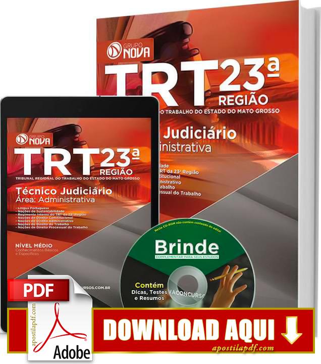 Apostila TRT MT 2015 Técnico Judiciário Impressa PDF Download Grátis