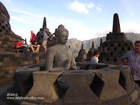 Buddha in the bell, Borobudur Yogyakarta