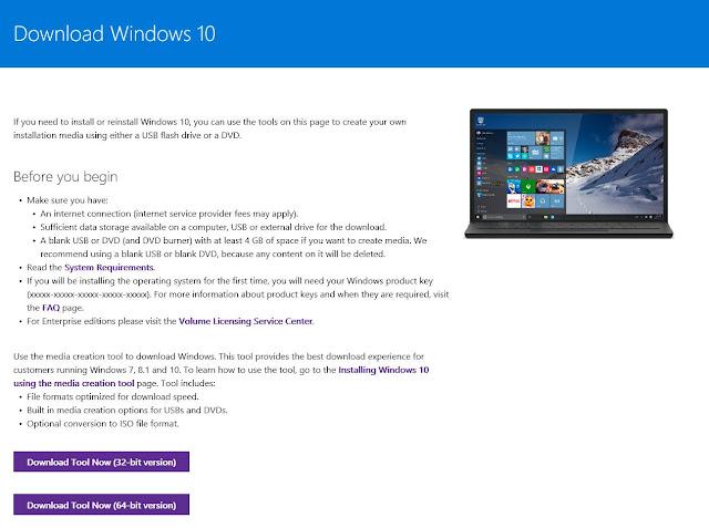 تثبيت و تحميل ويندوز 10 النسخة الاصلية من الموقع الرسمي