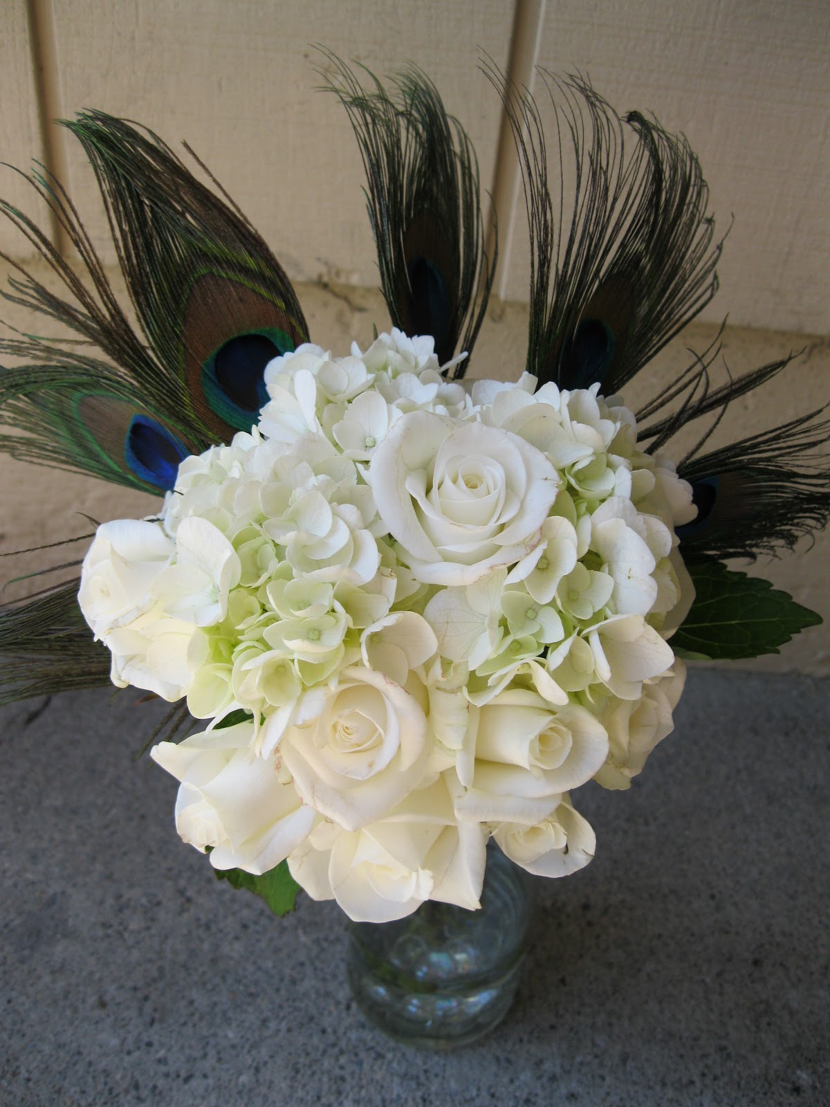 White Wedding Bouquets With Peacock Feathers : Bertoli bridal and design peacock feather bouquets