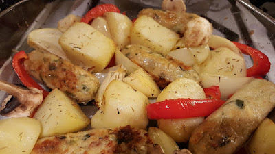 roasted potato and sausage supper