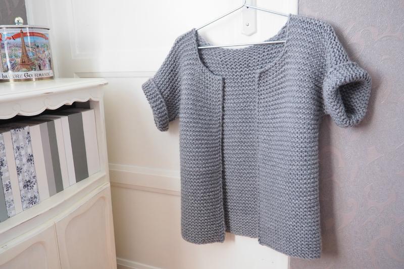 tricoter un gilet sans manches facile