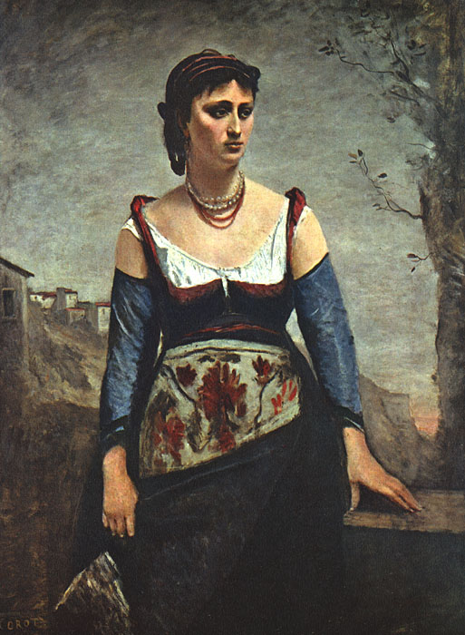Painting of camille corot 1796 1875 artist camille for Camille corot