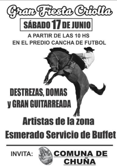Gran Fiesta Criolla en Chuña
