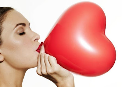 Love Is... - woman heart balloon