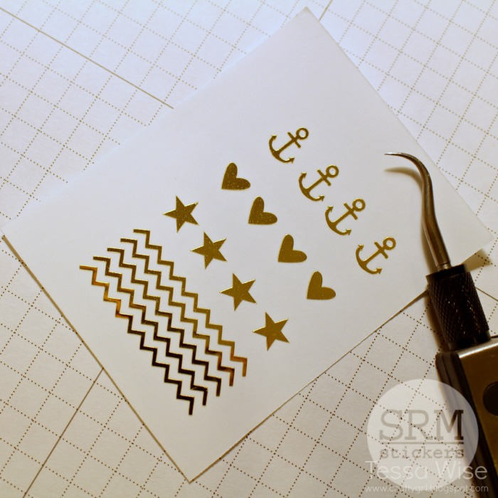 SRM Stickers Blog  - Create Your Own Vinyl Nail Stickers with Tessa - #vinyl #gold #metallic #silhouette #nails