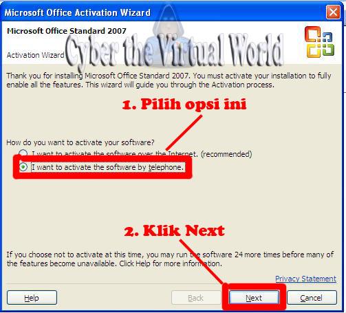 cara mengaktifkan microsoft office 2007 ultimate