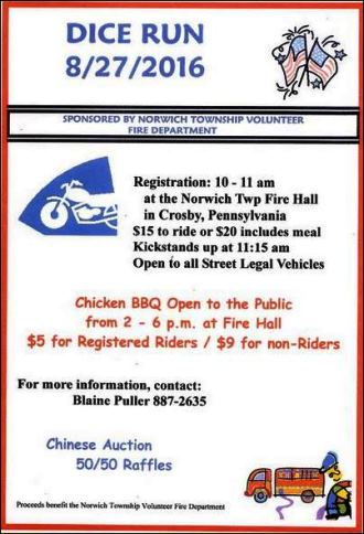 8-27 Dice Run Norwich Township VFD