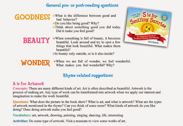 S is for Smiling Sunrise, ABC book review at Because I'm Me