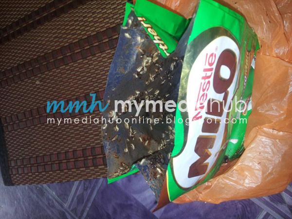 Beratus ratus Ulat Ditemui Dalam Produk Milo Baru Dibeli