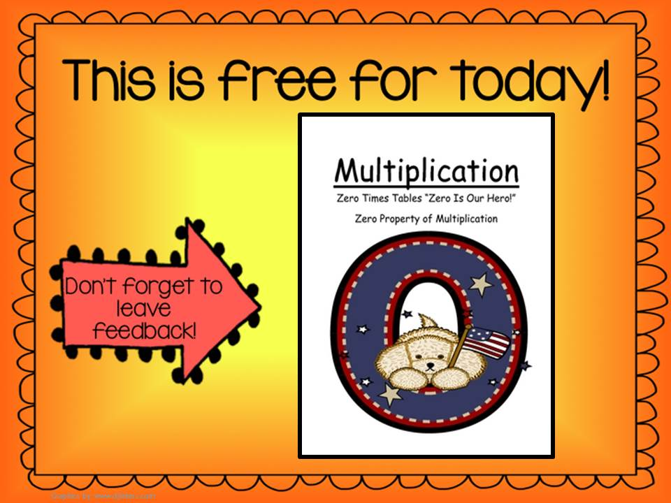 Fern Smith's Throwback Thursday Trio - FREE Math Center Game Multiplication Zero Is Our Hero!