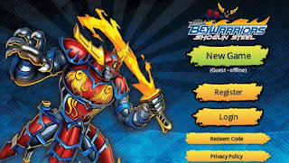 Screenshots of the Beyblade BeyWarriors for Android tablet, phone.