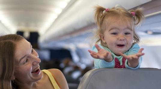Авиапассажиры с детьми