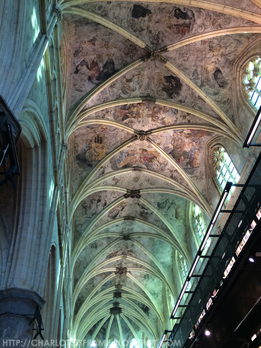 Dominicanen church ceiling, dominicanen kerk
