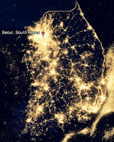 Korea nightview from space - Seoul