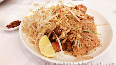 Pad Thai with crispy pork at Nine Elephants