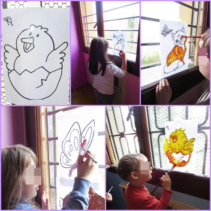 Studiamando liberamente dipingere sui vetri delle finestre - Rivestire i davanzali delle finestre ...