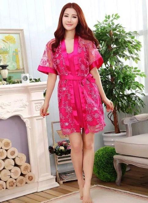 gambar Kimono dan Lingerie SL1210 Hot Pink