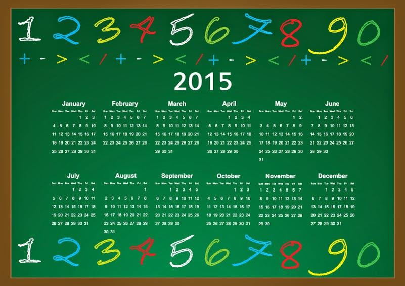 calendario año 2015