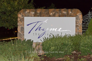 Streetside Sign for Thyme Restaurant in Medina, Ohio
