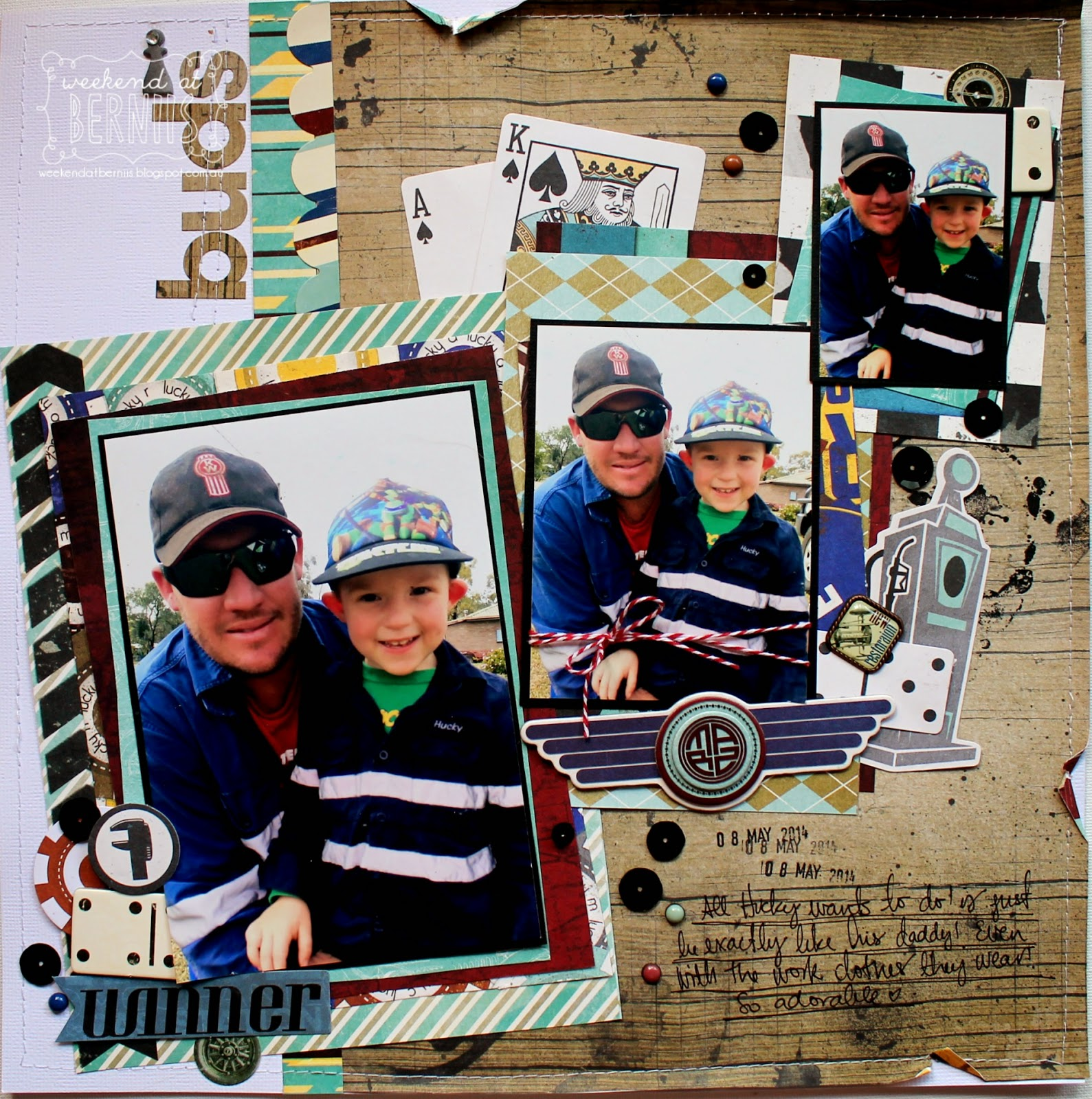 Buds layout by Bernii Miller for BoBunny using the Wild Card collection .