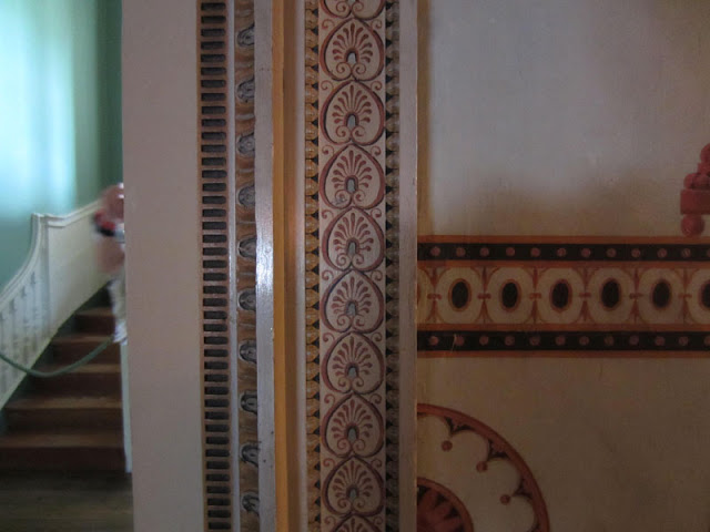 Painted detail, Osterley House, west London