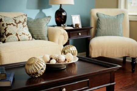 Blue and brown living room decorating ideas living room for Blue brown living room decor