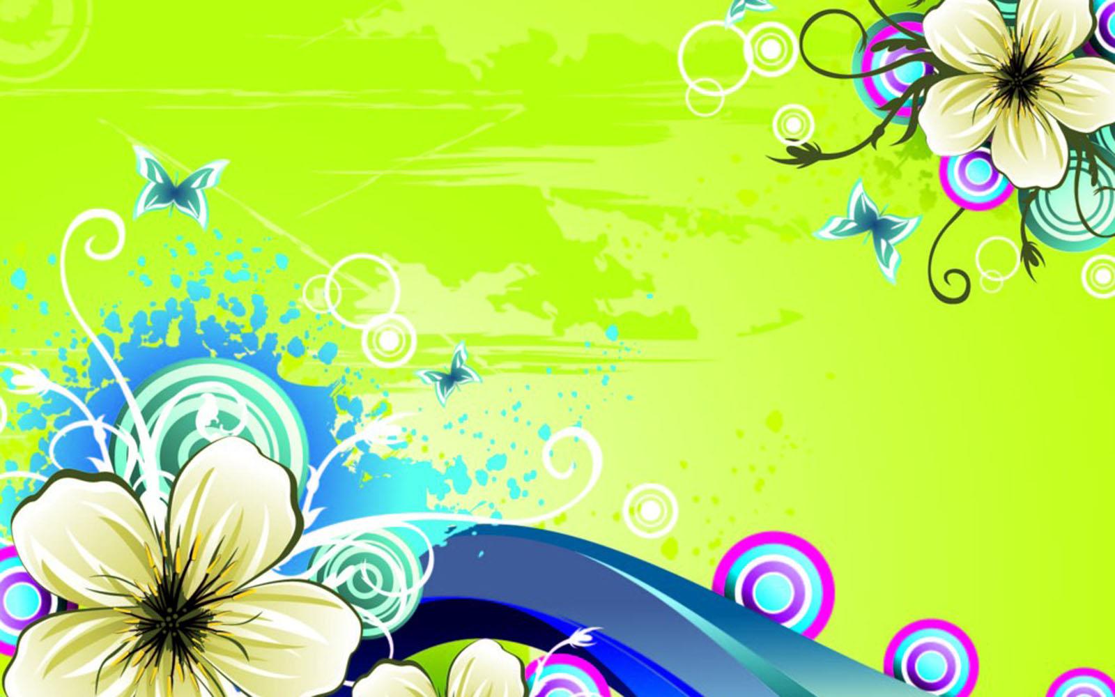 வால்பேப்பர்கள் ( flowers wallpapers ) - Page 3 Vector+Flowers+Wallpapers+3