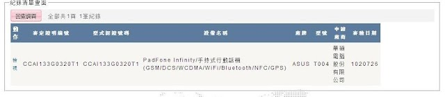 Asus Padfone Infinity A86 codenamed T004 clears the NCC Certification