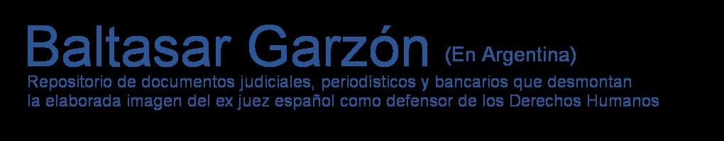 Baltasar Garzón en Argentina
