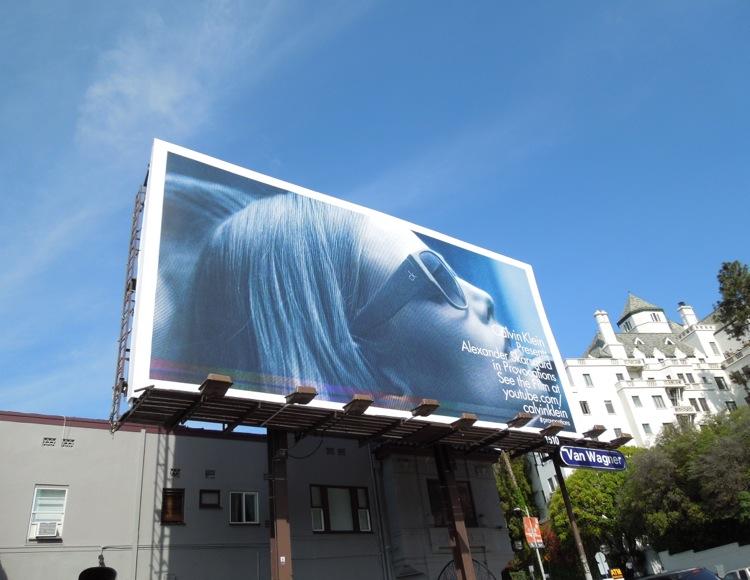 Calvin Klein eyewear billboard