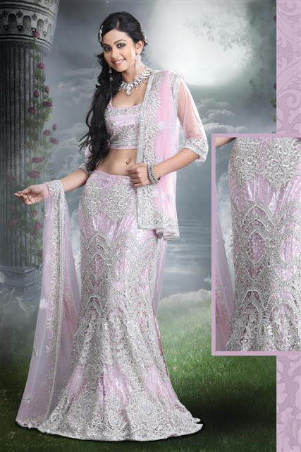 Stunning Light Pink Fish Lehnga